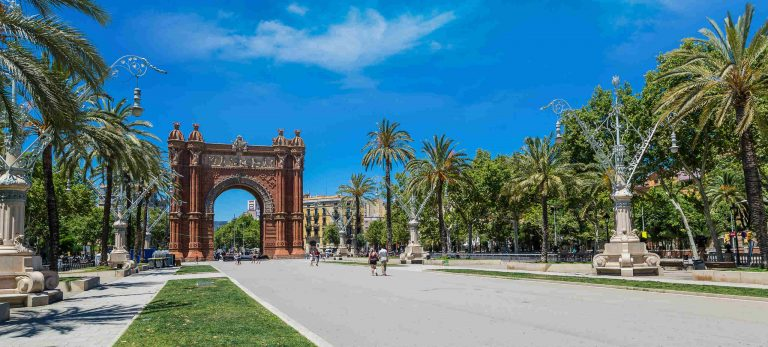 Parc de la Ciutadella et son arc de triomphe