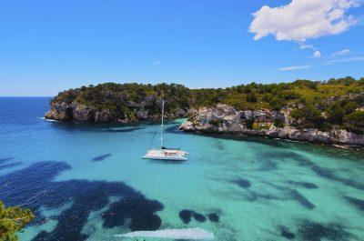 Boat party en catamaran à Minorque