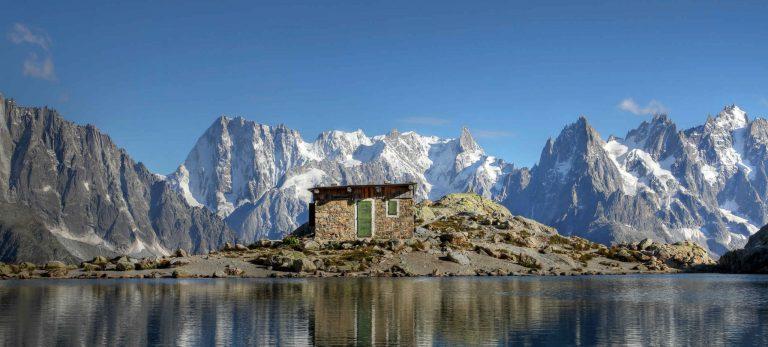 <strong>Le massif du Mont Blanc depuis le Lac Blanc</strong>