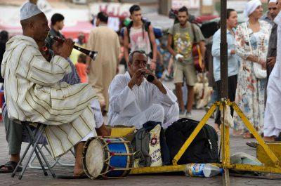 Folklore sur la Place Jemaa-el-Fna