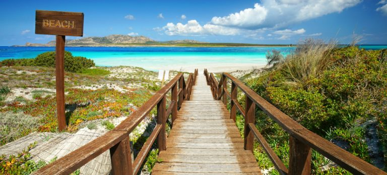 <strong>La plage de La Pelosa en Sardaigne</strong>