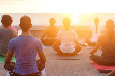 Séance de méditation à Minorque