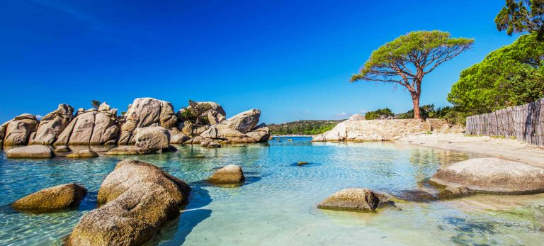 <strong>La plage de Palombaggia en Corse</strong>