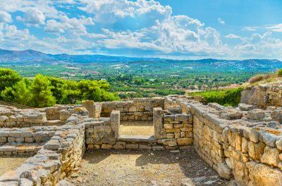 Le site minoen de Phaïstos en Crète