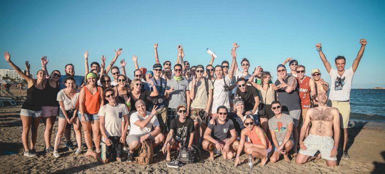 <strong>Team building sur la plage de Playa d'en Bossa</strong>